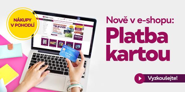 Maximální pohodlí - PLATBA KARTOU nově v e-shopu!
